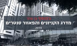 (Hebrew) מדרג הקניונים והפאוור סנטרים 2019